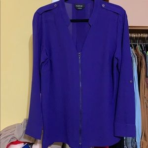 bebe Tops - Bebe zip up blouse